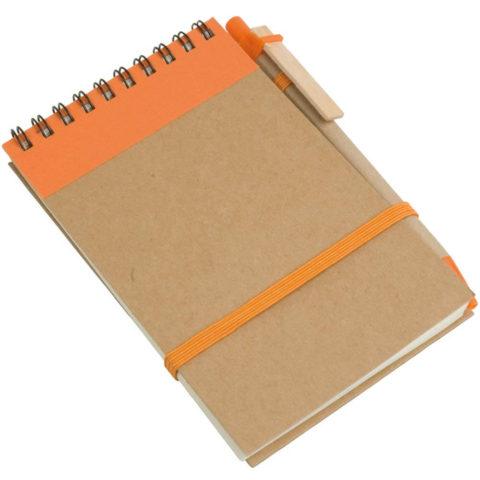 Block notes eco arancio