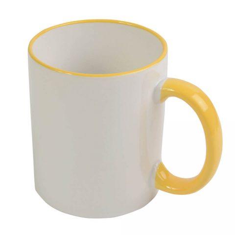 Tazza sublimazione bordo giallo