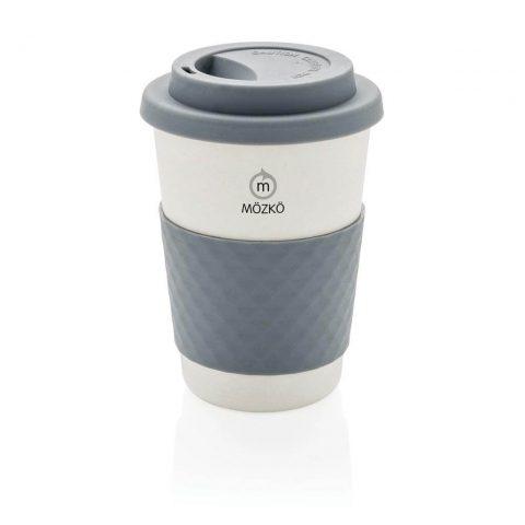 Tazza da caffè in fibra di bambù grigio