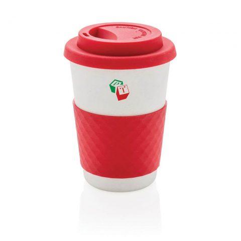 Tazza da caffè in fibra di bambù rosso