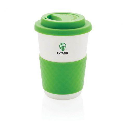Tazza da caffè in fibra di bambù verde